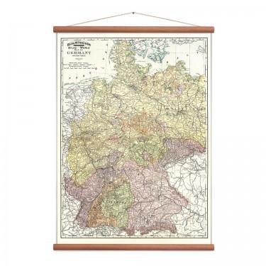 Carte de l'Allemagne vintage