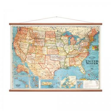 Carte des Etats-Unis vintage