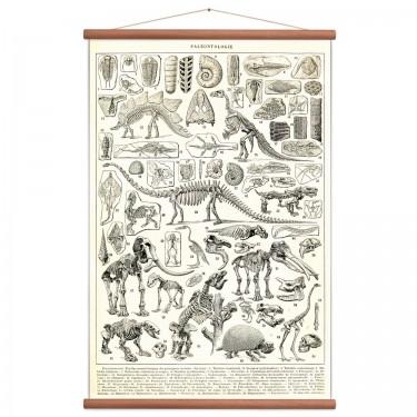 Affiche dinosaure vintage