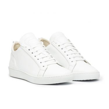 AMALFI LOW WHITE LEATHER
