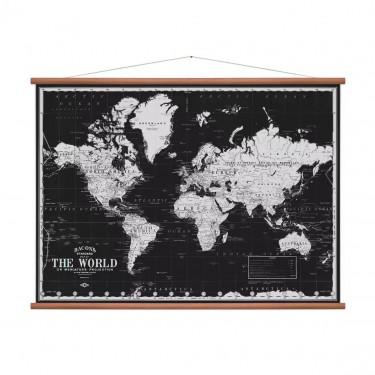 Carte du monde black