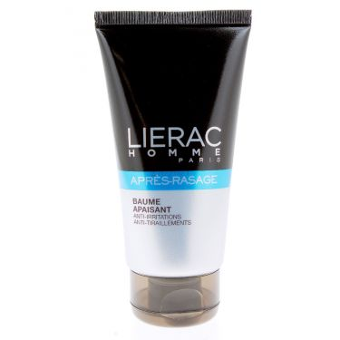 LIERAC beaume apaisant après rasage anti-irritations 75 mL