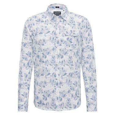 Chemise motifs blanc