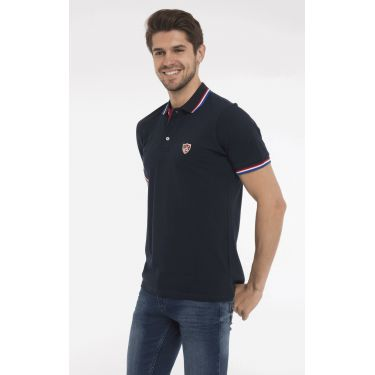 polo navy col BBR