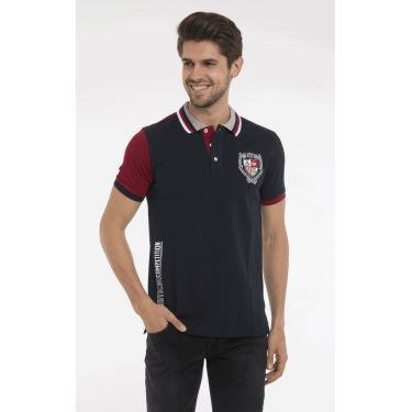 polo navy rouge