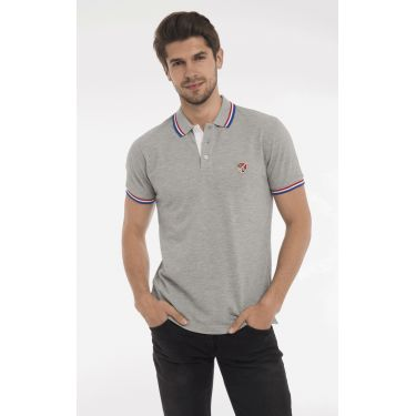 polo gris col BBR