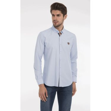 chemise bleu plaid