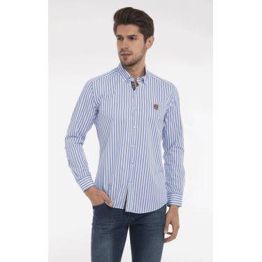 chemise bandes bleues