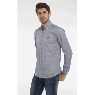 chemise navy plaid