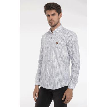 chemise navy print