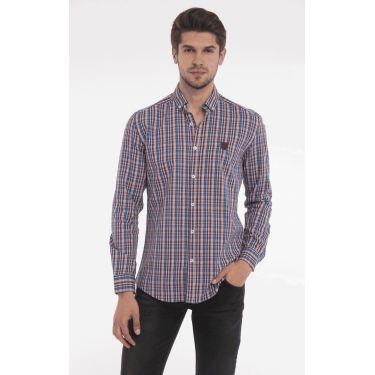 chemise carreaux multicolores