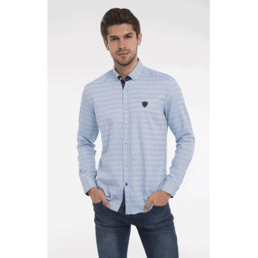 chemise ligne bleu ciel