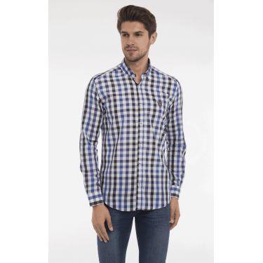 chemise carreaux bleu & noir
