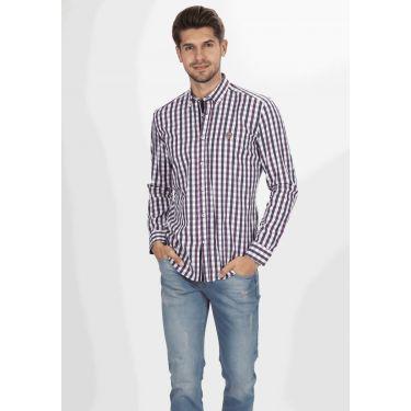 chemise carreaux navy & blanc