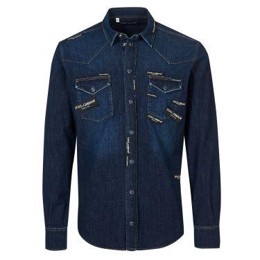 chemise bleu foncé