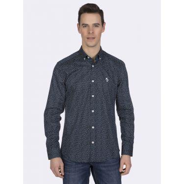 Chemise bleu - blanc