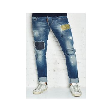 Jeans patch-LY medium wash