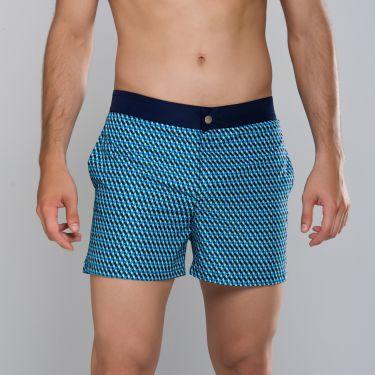 Short de sport Noir & bleu