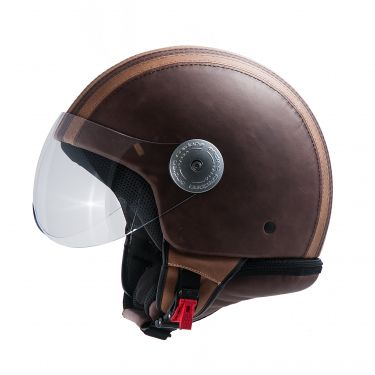 Casque Vintage Marron