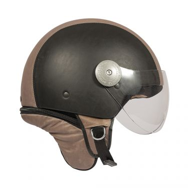 Casque Vintage Beige Marron