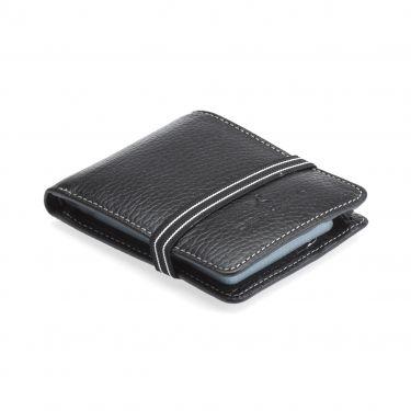 Porte carte en cuir Noir