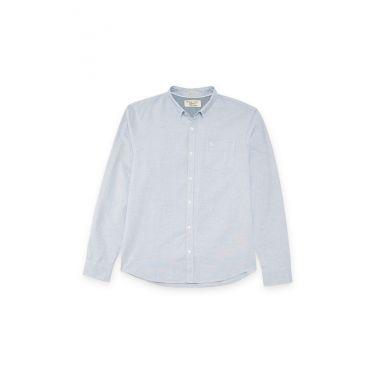 chemise à manche longue bleu