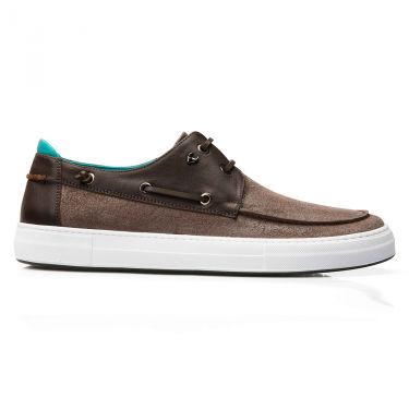 Chaussures bateau colin marron