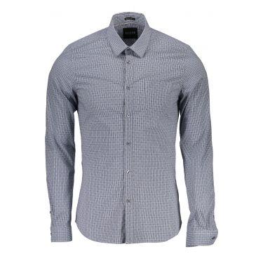 Chemise à manches longues bleu ciel W60