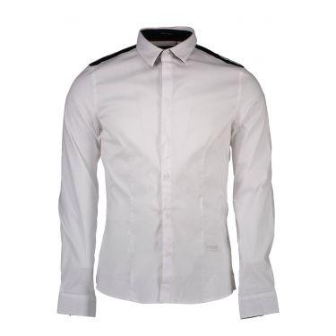 Chemise à manches longues fines blanc M50