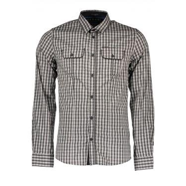 Chemise à manches longues fines marron 700