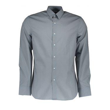 Chemise à manches longues fines bleu ciel 81Z