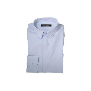 Chemise à manches longues et fines bleu ciel 49Z