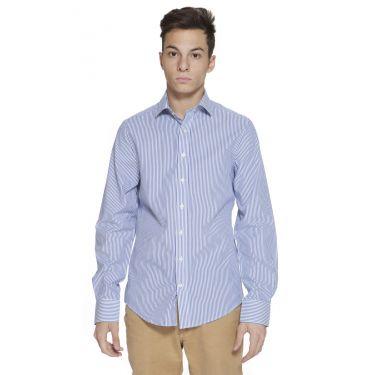 Chemise à manches longues Bleu-47