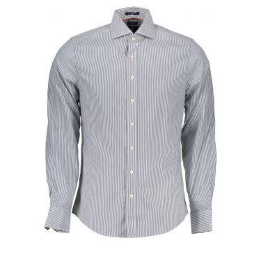 Chemise à manches longues Bleu & Blanche-17