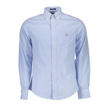 Chemise à manches longues Bleu Clair-22