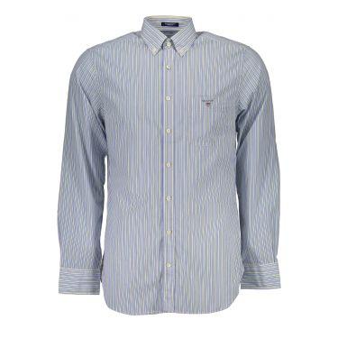 Chemise à manches longues Bleu-10