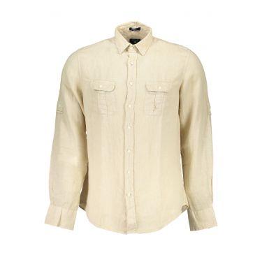 Chemise à manches longues Beige-12