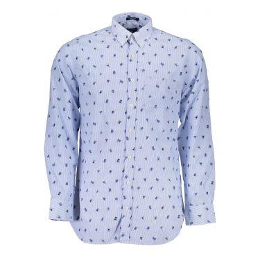 Chemise à manches longues Bleu-40