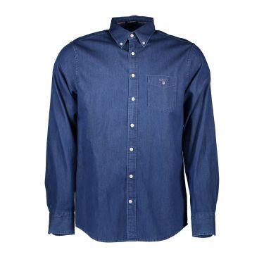 Chemise à manches longues Bleu-20