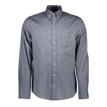 Chemise à manches longues Bleu Gris-02