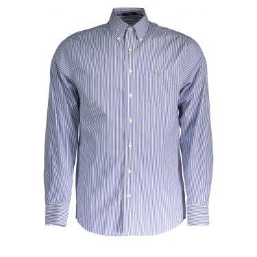 Chemise à manches longues Bleu Clair-10