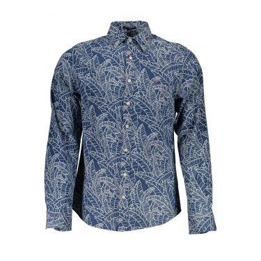 Chemise à manches longues Bleu-45