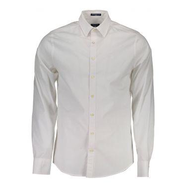 Chemise à manches longues Blanche-05