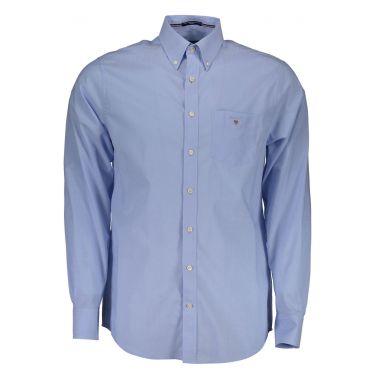 Chemise à manches longues Bleu-00
