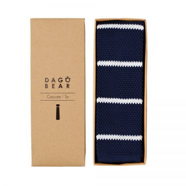 Cravate Rayée Bleue