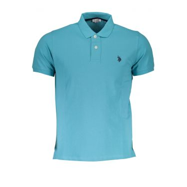 Polo à manches courtes Bleu-233