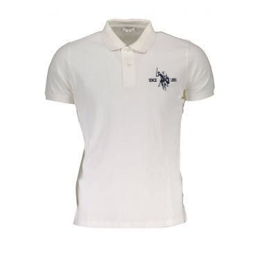 Polo à manches courtes Blanc-301