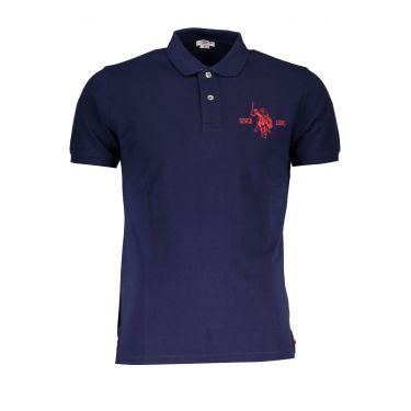 Polo à manches courtes Bleu-377