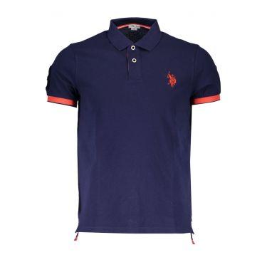 Polo à manches courtes Bleu-565
