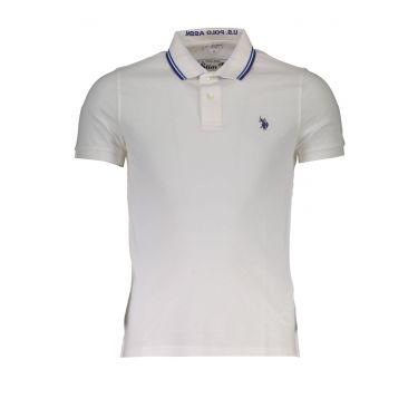Polo à manches courtes Blanc-801